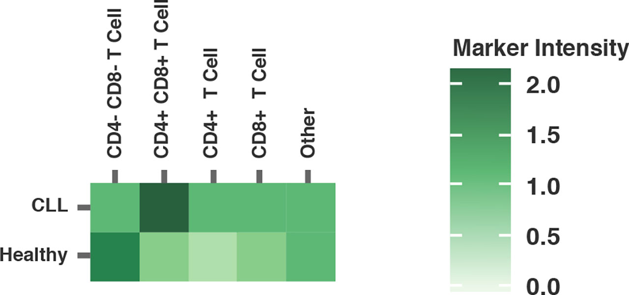 Heatmap analysis of populations driving the specific expression profiles for Ki67